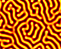 reaction diffusion labyrinth